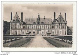 Carte Du Château De Rosny Sur Seine Grande Allée Et Cour D' Honneur - Rosny Sur Seine
