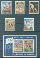 BURUNDI - 1972 - MNH/*** LUXE - OLYMPIC GAMES MUNICH - COB 506-510 BL59 BL59A PERF. AND IMPERF. - Lot 21349 - Burundi
