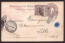 Messico, Cartolina Postale Del 1902 Per La Francia             -CM22 - Mexique