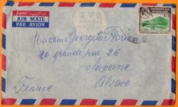 TIMBRES SUR ENVELOPPE - RHODESIA And NYASALAND -  La Fédération De Rhodésie Et Du Nyassaland - Timbres