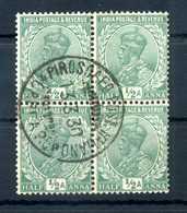 """India Quartina ½a ANNULLO """"13.3.30 PIROSCAFO POSTALE ITALIANO"""" - India (...-1947)"""