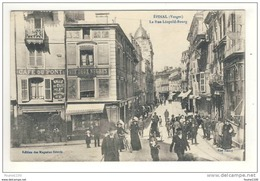 Carte D' épinal La Rue Léopold Bourg  ( Très Belle Animation )( Commerce Café ) - Epinal