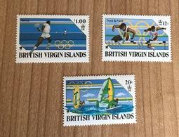 British Virgin Islans 1998 Olympic Games Windsurf Athletics Tennis Tenis - Francobolli