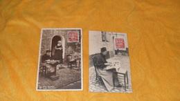LOT 2 CARTES POSTALES ANCIENNES DE 1948.../ DENTELLIERE FLAMANDE, BRUGES DENTELLIERES...CACHETS BRUGGE ET GENT + TIMBRE - Belgien