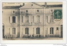 Carte De Villefagnan La Mairie ( Hôtel De Ville )( Peu Courante ) Animée - Villefagnan