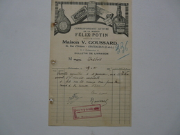 VIEUX PAPIERS - DOCUMENTS COMMERCIAUX : FELIX POTIN - Maison V. GOUSSARD - CHATEAUDUN (Eure Et Loir) - 1900 – 1949