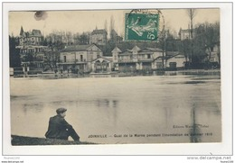 Carte De Joinville ( Inondations Janvier 1910 ) Quai De La Marne  ( Peu Courante ) - Joinville Le Pont