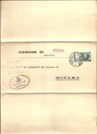 Italia - Dall'ufficio Anagrafe Del Comune Di Novara Al Comune Di Arona (NO) - Completo Di Rispota - 1952 - 6. 1946-.. Repubblica