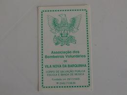 Firefighters Pompiers Bombeiros Voluntários De Vila Nova Da Barquinha Portugal Portuguese Pocket Calendar 1991 - Calendarios
