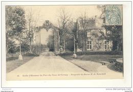 Carte De La Grille D' Honneur Du Parc Des Vaux De Cernay ( Propriété Du Baron H. De Rotschild  ( Vallée De Chevreuse ) - Vaux De Cernay