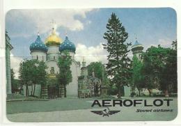1992 Pocket Calendar Calandrier Calendario Portugal Aeroflot Soviet Airlines Comp Aviação Aeroflot - Calendriers