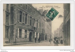 ## PEU COURANTE ## Carte De Mirecourt L' Hôtel De Ville Et Palais De Justice ( Recto Verso ) - Mirecourt