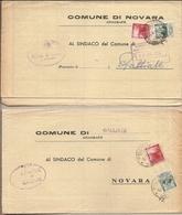 Italia - Dall'ufficio Anagrafe Del Comune Di Novara Al Comune Di Galliate (NO) E Risposta - 1952 - 1946-.. République