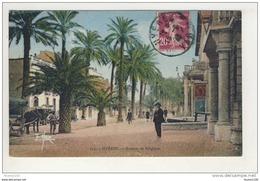 Carte De Hyères Les Palmiers Avenue De Belgique  ( Recto Verso )( Format C.P.A ) - Hyeres