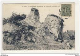 Carte De Ham Château  Détruit Par Les Allemands ( Ruines De La Guerre )( Recto Verso ) - Ham