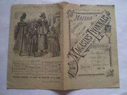 Catalogue Des Magasins Lyonnais à Grenoble, Nouveautés Et Confections ; 1893.1894; Timbre 1c Sage - Moda