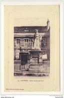 Carte De  Bourges  Statue Jacques Coeur  ( Recto Verso ) - Bourges