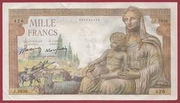 """1000 Francs """"Déesse Déméter"""" Du 11/02/1943.HZ ---TTB+--ALPH .J.3936 - 1871-1952 Circulated During XXth"""