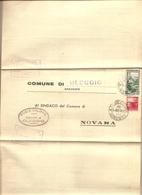 Italia - Dall'ufficio Anagrafe Del Comune Di Novara Al Comune Di Oleggio (NO) Con Risposta - 1952 - 6. 1946-.. Repubblica