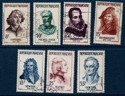 FRO 1957  Célébrités  étrangères   N°YT 1132-1138  (ex1) - Oblitérés