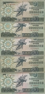 COREE DU NORD 50 WON 1988 VF P 30 ( 5 Billets ) - Corée Du Nord