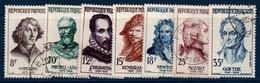 FRO 1957  Célébrités  étrangères   N°YT 1132-1138  (ex2) - Oblitérés