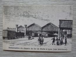 CP-Embarcadère Du Chemin De Fer Paris Lyon 1850, Photo D'archive De La SNCF - Gares - Avec Trains