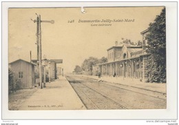 Carte De Dammartin Juilly Saint Mard Gare Intérieure ( Sans Train ) Mauvais état   ( Recto Verso ) - Frankrijk
