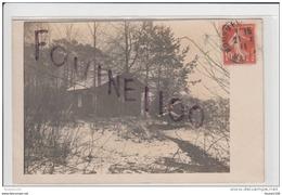 Carte Photo Du Camp De Châlons Vue De La Baraque Des Chronos D' Après Les écrits Du Dos + Cas De Rougeole Au 106 Ri - Camp De Châlons - Mourmelon