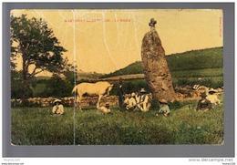 Martailly Les Brancion Le Menhir Au Dos Dos Tampon De Jacqueroux à Tournus ( Recto Verso ) MAUVAIS ETAT - Francia