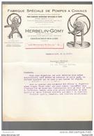 Facture Fabrique De Pompes à Chaines ( Pour Puits ) Herbelin Gomy   à Chateauneuf Sur Loire ( 45 Loiret )( Recto Verso ) - Francia