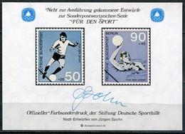 """Cinderella Vignette Deutsche Sporthilfe Entwürfe """"Für Den Sport"""" - Draft For Sports Series 1989 - Wasserball"""