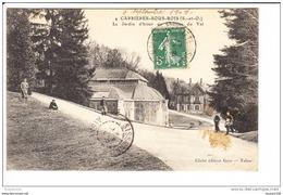 Carte De Carrières Sous Bois  Le Jardin D' Hiver Au Château Du Val ( Recto Verso ) - Autres Communes