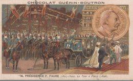 CHROMO  CHOCOLAT GUERIN-BOUTRON  PRESIDENCE F. FAURE  LE TSAR A PARIS - Guérin-Boutron