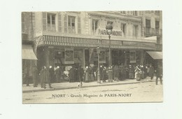 "79 - NIORT - Grands Magasins De "" PARIS - NIORT "" Beau Plan De Devanture Animé Bon état - Niort"