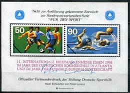 """Cinderella Vignette Deutsche Sporthilfe Entwürfe """"Für Den Sport"""" - Draft For Sports Series 1980 - Exhibition Print - Wasserball"""