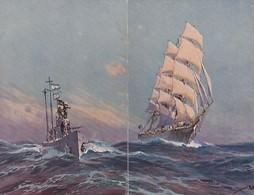 Puzzle Von 2 Karten - Seefahrtssujet - Signiert        (200312) - Bateaux