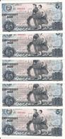 COREE DU NORD 5 WON 1978 UNC P 19 A ( 5 Billets ) - Corée Du Nord