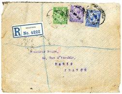 GRANDE BRETAGNE ENV 1919 BRADFORD LETTRE RECOMMANDEE => FRANCE - Cartas