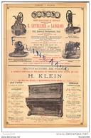 PUB De 1895 Pompe ( Puits ) Letellier Langlois Piano Klein Montreuil Sous Bois Parfumeur Demarson Chételat ( Parfumerie - Pubblicitari