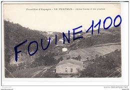 # RARE # Carte Frontière D' Espagne Le Perthus Ancien Casino  ( état Moyen Dommage Car Peu Courante )  ( Recto Verso ) - Francia