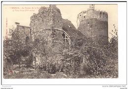 Carte De Verneuil  Donjon De La Fauconnerie  Et Tour Grise  ( Recto Verso ) - Verneuil-sur-Avre