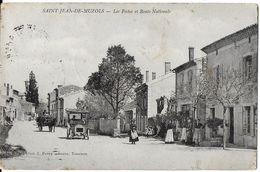 SAINT-JEAN-DE-MUZOLS  07 ARDÈCHE LES POSTES ET ROUTE NATIONALE AUTOMOBILE EDIT. FERRY - Francia
