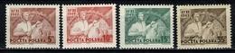 Polska 1949 Yv  557/60**, Mi 539/42**  MNH - Ungebraucht