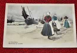 DE PANNE  -  LA PANNE  - Garnalenhandelaren - Marchandes De Crevettes  (illustrateur  GOOSSENS) - De Panne