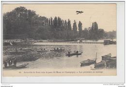 Carte  De Joinville Le Pont  Les Pêcheurs  ( Peu Courante Avec Un Avion ) ( Recto Verso ) - Joinville Le Pont