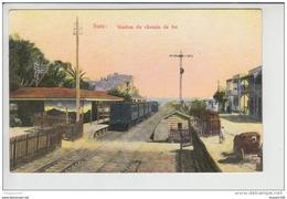 Carte De Suez  Station Du Chemin De Fer ( Train Gare )  ( Lichtenstern & Harari Cairo N° 274  )  ( Recto Verso ) - Suez