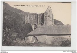 Carte De Saint Jean  D'aulph  Les Ruines De L' église   ( Recto Verso ) - Saint-Jean-d'Aulps