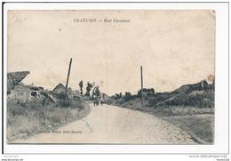 CHAULNES Rue Lhounot ( Ruines De La Guerre 1914 1918 ) Edit Meleye Saint Quentin ( Recto Verso ) Mauvais état - Chaulnes