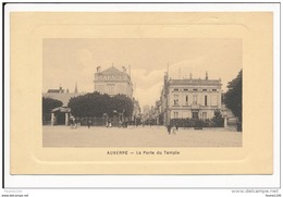 Carte D' AUXERRE  La Porte Du Temple  ( Recto Verso ) - Auxerre